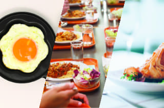 Comer em casa, bandejão ou restaurante?